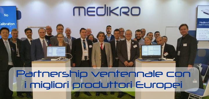 Partnership ventennale con i migliori produttori Europei