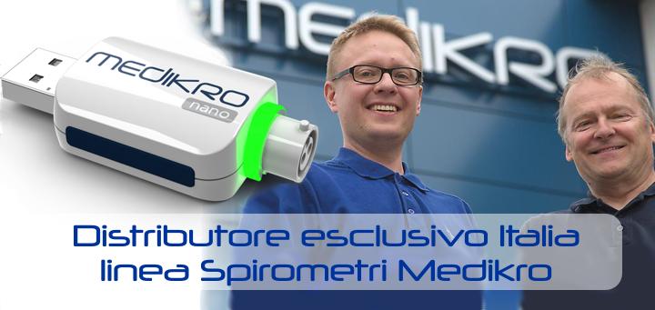 Distributore esclusivo Italia linea spirometri Medikro