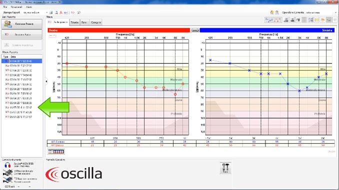 Creazione Paziente Audiometro Oscilla